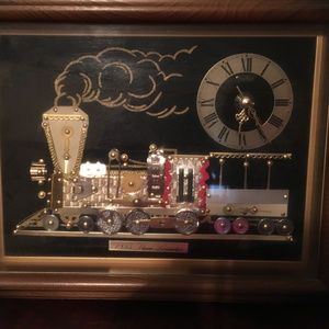 1855 Steam Locomotive Quartz Clock